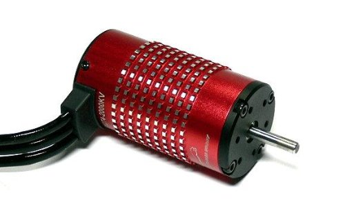 RCECHO Leopard RC Model 4274 KV2000 Red 4 Poles R/C Inrunner Brushless Motor IM150 with Full Version Apps Edition