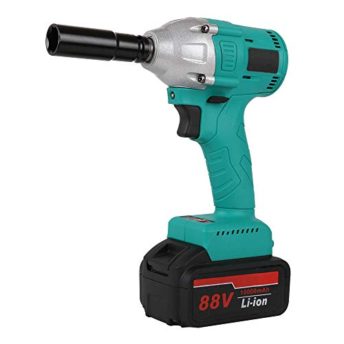 Review YKLP 21V Brushless Cordless Impact Wrench, Portable Compact Electric Impact Wrench with 2 Bat...