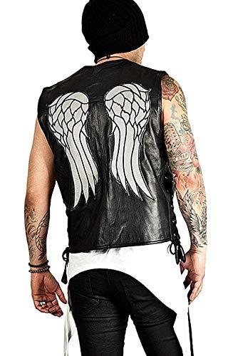 Vicenzia Leder Walking Dead Daryl - Dixon Angel Wings - Lederwestejacke schwarz (XXXL)