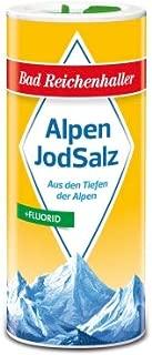 Bad Reichenhaller Alpen JodSalz iodized salt with added fluoride 125g shaker