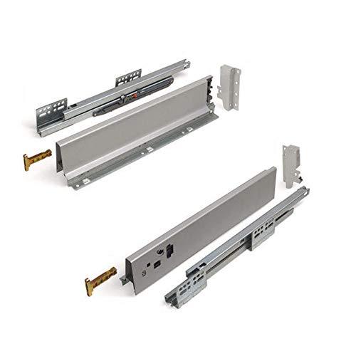 SOTECH Schubkastensystem SO-BOX grau Höhe: 84 mm Tiefe: 400 mm Schubkasten belastbar bis 40 Kg Soft-Close