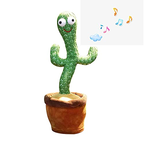 Cactus Toy,Wriggle Dancing Cactus-Repeat What You Say And Sing Electronic Plush Toy, Parties Birthday Gift for Kids