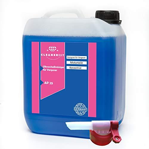Die Seifenblase 5 Liter Ultraschallreiniger für Vergaser Konzentrat + Ausgießer für alle Mikuni-, Keihin-, Hitachi- und Teikei-Vergaser HD-Gerät