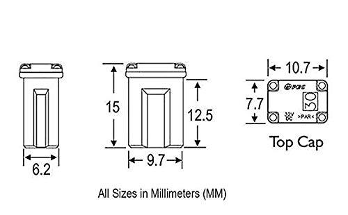 20 Amp 608820 Micro Cartridge Fuses - FMM MCASE Type .Mini Box Shaped Cartridge Fuse Kit for Cars, Trucks, and SUVs(10Pcs)