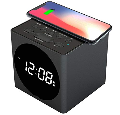 Galahome Wireless Charging Alarm Clock Dock