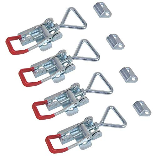 Lot de 4 serrures excentriques réglables 70-81 mm avec contre-support