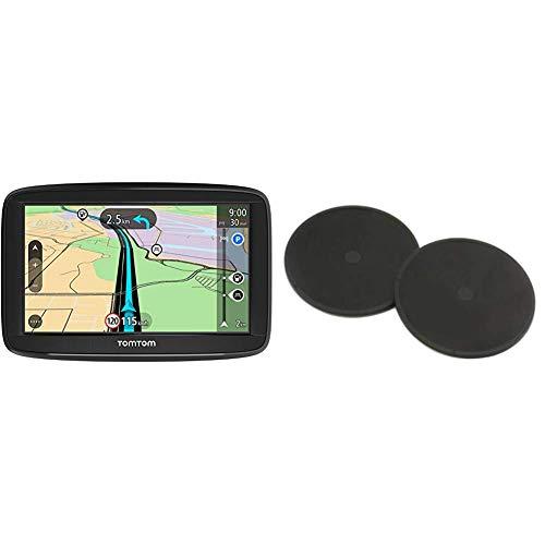 TomTom Start 52 (5 Pouces) - GPS Auto - Cartographie Europe 48 à Vie + Disques de Fixation Adhésifs pour Tableau de Bord, Adaptés à Tous Les GPS TomTom