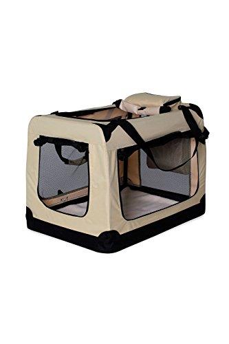 dibea TB10042 Bolsa de Transporte para Perros y Gatos, Beige, (L) 70x5
