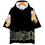 BIGMARK コスプレ ハロウィン 仮装 Tシャツ tシャツパーカー メンズ 男女兼用 鬼滅の刃 コスチューム 半袖 大人 フード付き 大きいサイズ 小さいサイズ 鬼舞辻 無惨 XXS