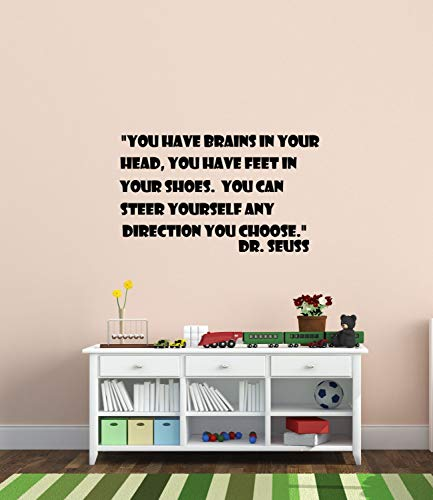 Wall Art Nursery quote decal, baby girl nursery decor, Dr. Suess quote, childs bedroom, wall words, boys playroom, vinyl decal, 27\