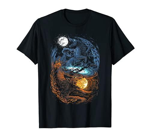 Viking Wolf Norse Mythology Design T-Shirt