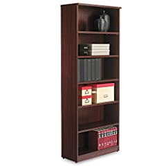 Contemporary design; woodgrain laminate construction Commercial-grade side panels with protective PVC edges Extra-deep, adjustable shelves Tight, dowel and cam-lock assembly Versatile design can be used as open bookcase or enclosed locking storage wi...