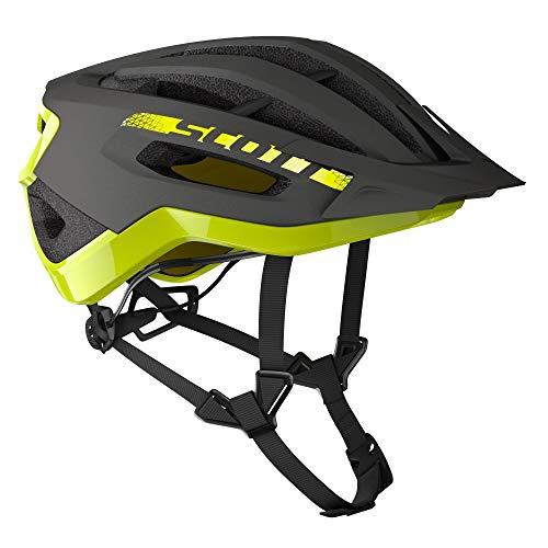 SCOTT 275189 Fahrradhelm, Unisex, Erwachsene, Dk gr/ra YEL, S