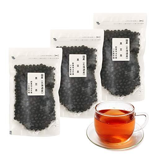 国産 北海道産 黒豆茶 黒豆 無添加 ノンカフェイン 200g 川本屋茶舗 (3袋)
