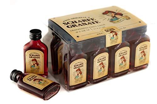 Scharfe Granate - Das Original - Granatapfel-Chili-Likör - Mit 18% Alkohol - 20er Box Taschenflaschen á 20 ml