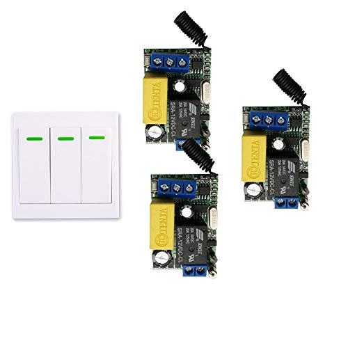 Calvas AC 220V 3 Way Channel Brand Cheap Sale Venue Switch Control Wall Remote + Selling Panel