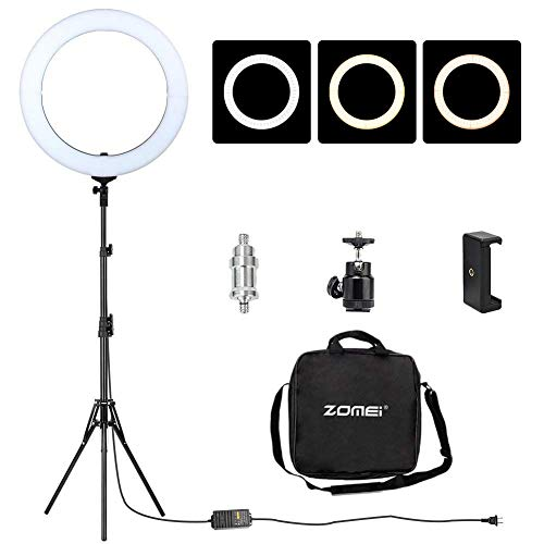 ZOMEi 18' Ring Light with Stand Dimmable...