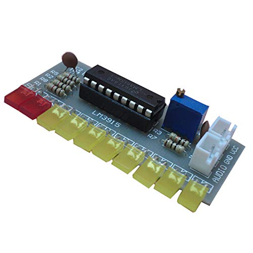 Tiamu Lm3915 Indicador De Nivel De Audio DIY Kit 10 Led Analizador De Espectro De Sonido De Audio Kit Indicador De Nivel Soldadura Electrónica
