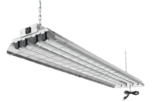 Lithonia Lighting 1284GRD RE Lighting Fixture, 32W, 120V, Silver (w/Wire Guard)