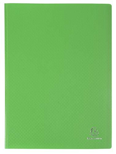 Exacompta 8823E Portalistini Opak in polipropilene opaco con buste interne lisce ad alta trasparenza, 20 buste e 40 facciate. Formato A4 Colore della copertina Verde chiaro