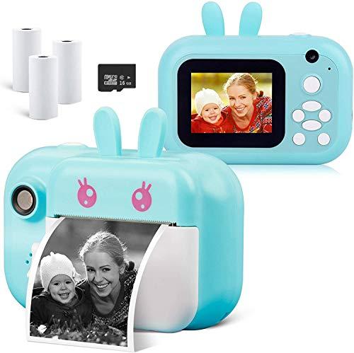 Sanyipace Kid's 24MP Digital Mini Instant Photo Printer Camera with Print Paper , 2.4 in HD 1080P Video Camera Selfie Camera Toy