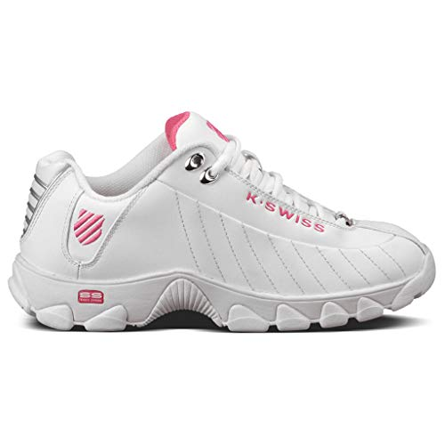 K-Swiss Women's ST329 CMF Trainer Lifestyle Sneaker, White/Shocking Pink, 5 M US
