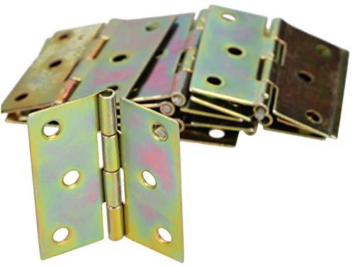 KOTARBAU® Möbelscharniere 45 x 40 mm 100 St. Gerollte Scharniere Alle Größen Tischband Türband Möbelband Verzinkt Türscharniere Scharnier Kistenband Schrankscharniere