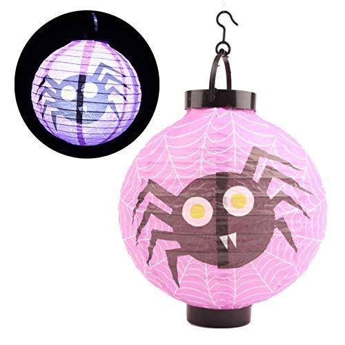 1pc/4pcs Halloween Festival Linternas de papel Farol Calabazas Araña Bruja Cráneo Halloween Fiesta temática Decoraciones al aire libre, Estilo C, 1pc