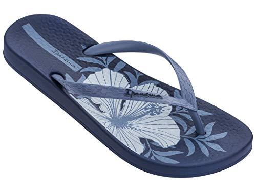 Ipanema Zehentrenner Damen Flipflops Thong Offene Zehe Zehen-Sandale Strand-Sandale Freizeitsandalen Gummi Badeschuhe Riemchen 82761 Temas IX (Blau, Numeric_40)