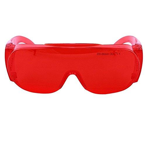 AJSR YH-10 Laser-Occhiali di sicurezza, 200, 560nm lunghezza d'onda tipica, protezione per occhi Laser VLT-Maschera da sci, 55%