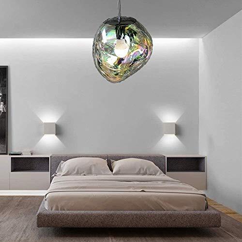 CGC - Lampadario da soffitto a forma di bolle d'argento, con base a sospensione abbinata