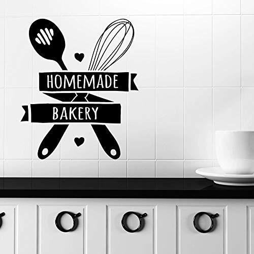 Calcomanías de pared de panadería caseras cocina panadería tienda decoración de interiores pegatinas de ventana de vinilo herramientas para hornear mural creativo