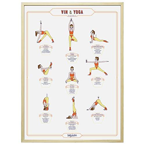 La Carte des Vins s'il vous plaît Plakat für Wein und Yoga, Papier, Damen, 50 x 70 cm