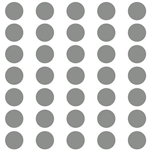 kleb-Drauf | 35 Punkte | Grau - matt | Wandtattoo Wandaufkleber Wandsticker Aufkleber Sticker | Wohnzimmer Schlafzimmer Kinderzimmer Küche Bad | Deko Wände Glas Fenster Tür Fliese
