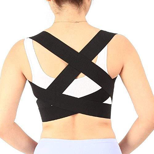 Tirantes para La Espalda, Tirante Elástico para La Espalda Corrector De Postura del Hombro Soporte para Órtesis Cifosis Desgastado Hunchback Habitual Brace para Cinturón