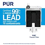 PUR RF3375 Water Filter Replacement for Faucet Filtration Systems, 2 Pack, Multicolor 15 PUR BASIC WATER FILTER REPLACEMENT: PUR's genuine faucet filters are certified to reduce over 70 contaminants, including 99% of lead, so you know you are drinking cleaner, great-tasting water FAUCET WATER FILTER: PUR faucet filters provide 100 gallons of filtered water, or 2-3 months of typical use, before you need a replacement. Only PUR faucet filters are certified to reduce contaminants in PUR faucet filter systems WHY FILTER WATER? Home tap water may look clean, but may contain potentially harmful pollutants & contaminants picked up on its journey through old pipes. PUR water filters, faucet filtration systems & water filter pitchers reduce these contaminants