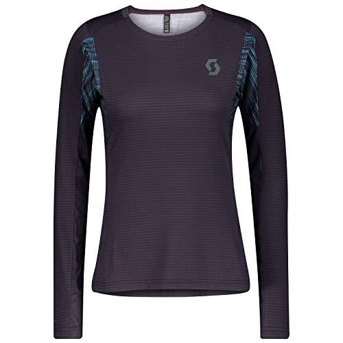 Scott Camiseta de running para mujer Trail Run L/sl Dark Purple/Breeze Blue EU M