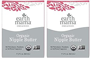 Comes with (2) 2-fluid Ounce bottles Earth Mama's Organic Nipple Butter is now 100% USDA Certified Organic, made with ethically sourced organic beeswax that's been gathered in a bee-centric manner With organic herbs traditionally used to soothe and m...