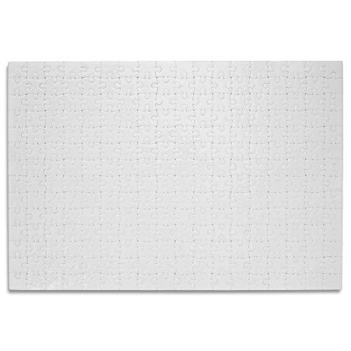 Kopierladen Puzzle Blanko individuell gestalten und bemalen, Leeres Puzzle mit glänzender Oberfläche, mit 252 Teilen, ca. 383 x 262 mm, Premium Qualität