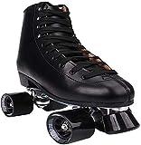 Patines Kids Roller Skate Quad Roller Patines para Hombre y Mujer Unisex Ligero Adulto Adecuado para Interiores y Exteriores para Mujeres y Hombres (Color : Negro, Size : 6.5 UK/41 EU)