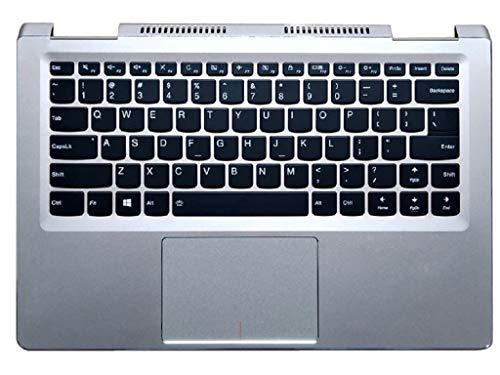 RTDpart Laptop PalmRest&keyboard For Lenovo Yoga 710-14ISK 710-14IKB English US 5CB0L47414 keyboard Bezel Cover Upper Case Silver Touchpad Backlit