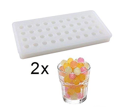 SWEET CANDY BAKERY 2 x Eiskugeln Form aus Silikon Eiswürfelform EIS-kügellchen Eiskugeln Kugel-Form Schokoladen-Form Pralinen-Form