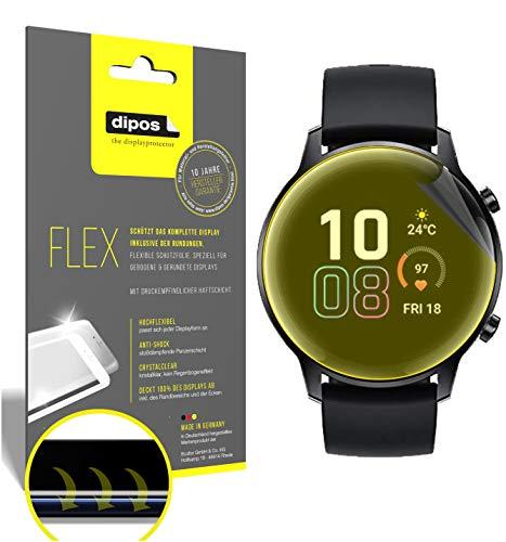 dipos I 2X Protector de Pantalla Compatible con Honor Magic Watch 2 42mm - Cobertura 100% para Pantalla I 3D Full Cover láminas Protectoras