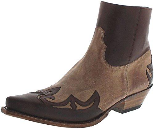 Sendra Boots 14379 Samuel Chocolate Firenze Lederstiefeletten für Herren Braun Westernstiefelette, Groesse:42