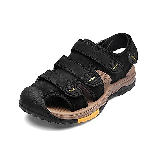 Sandalias Zapatos De Senderismo Para Hombre Cuero Ligero Y Transpirable Deportes Para Acampar Calzado De Playa Al Aire Libre