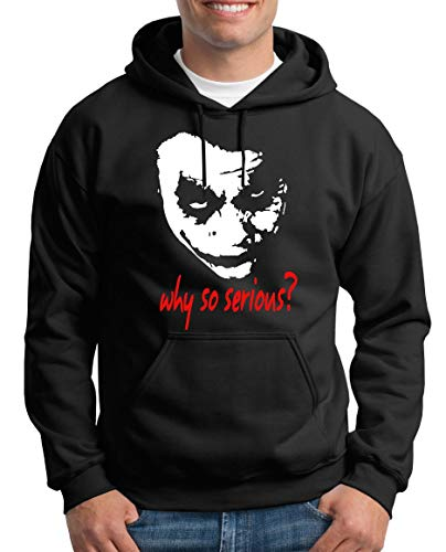 TShirt-People Joker Why so Serious? Kapuzenpullover Herren M Schwarz