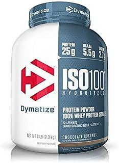 Dymatize ISO100 Hydrolyzed Protein Powder, 100% Whey Isolate Protein, 25g of Protein, 5.5g BCAAs, Gluten Fr...