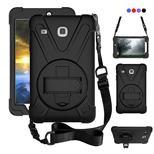 ZenRich Galaxy Tab E 8.0 Case, zenrich 360 Degree Kickstand Dropproof High Impact Resistant Heavy Duty Armor Cover W/ Hand Strap Handle Shoulder for Samsung SM-T377 SM-T377A / SM-T377V / SM-T377P