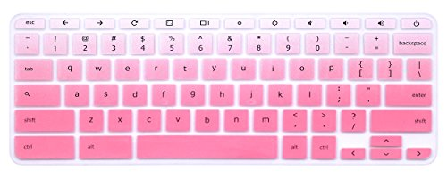 Silicone Keyboard Cover Skin for Acer Chromebook R11 CB3-131 CB5-132T, Acer Premium R11 Convertible, Acer Chromebook R13 CB5-312, Acer Chromebook 14 CB3-431,Acer Chromebook 15 CB3-531/532 (Ombre Pink)