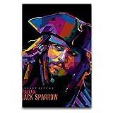 Captain Jack Sparrow Poster Fluch der Karibik, dekoratives